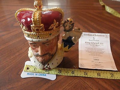 ROYAL DOULTON King Edward VII Character Jug D6923 - 1992 Limited Edition #1067