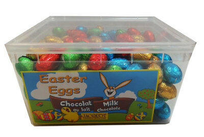 Jacquot Foiled Solid Milk Chocolate Eggs (1.8kg Tub)