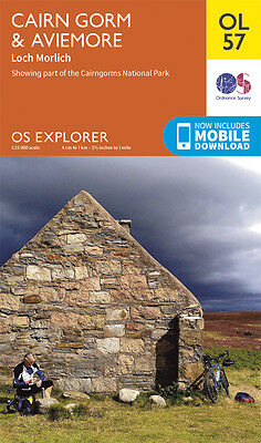 CAIRN GORM & AVIEMORE Map - OL 57 - OS - Ordnance Survey - INC. MOBILE DOWNLOAD