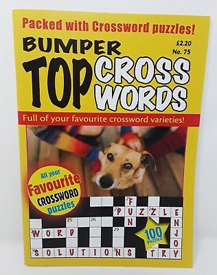 BUMPER Top Cross Words - [ Issue 75 ] - Crossword Puzzle Book - Over 100 Puzzles