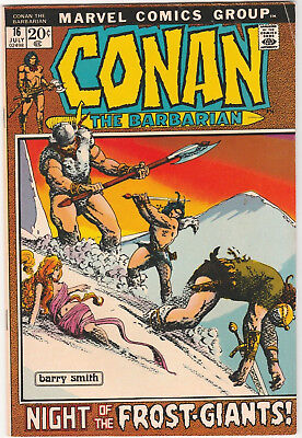 Conan the Barbarian #16 VG+ 1972 Marvel Comics Barry Windsor Smith Frost-Giants