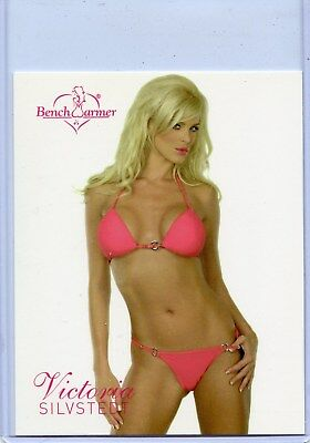 2004 Benchwarmer Series 2 Victoria Silvstedt Jumbo Box Topper Card 1 Of 8