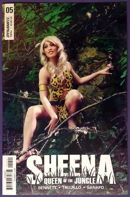 Sheena: Queen Of The Jungle 5 2018 9.2-9.4 Nm-/nm Cosplay Photo Variant Cover!!!