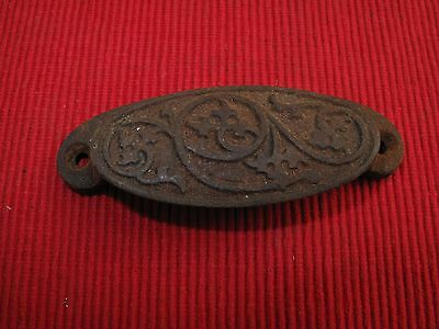 Antique Cast Iron Victorian Ornate Drawer Pull Handle  A18 1873 Patent Date