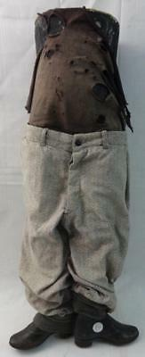 Rare & Unusual Antique 1/2 Mannequin Child's Store Display w/Cast Iron Boots!!