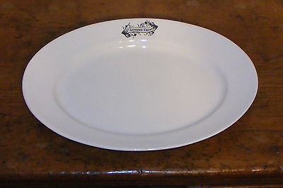 ANTIQUE VICTORIAN ENGLISH IRONSTONE POTTERY PLATTER ST ANDREW'S CHURCH rare 1880