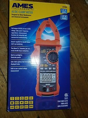 Ames Instruments Ac/dc Clamp Meter Cat Iv 600V Catiii 1000V Cm1000A New