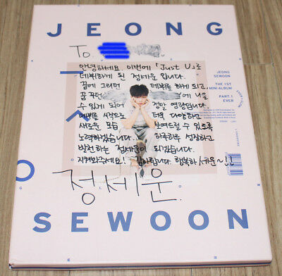 JEONG SEWOON EVER 1st Mini Album K-POP REAL SIGNED AUTOGRAPHED PROMO CD #1