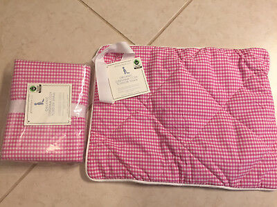 Pottery Barn Kids (PBK) Gingham Toddler Sham (2)  - Bright Pink - New with tags