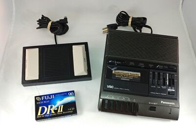 Panasonic RR-830 Standard Cassette Transcriber W/RP-2692 Pedal Dictation Machine