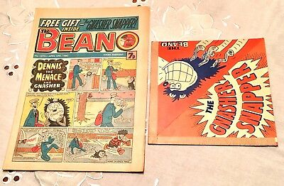 Beano Comic 1980 With Free Gift/ Gnasher Snapper