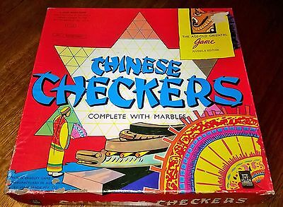 Chinese Checkers Vintage Board Game Complete Marbles Milton Bradley John Sands