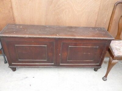 Antique Mahogany Sideboard With Beaded Edge