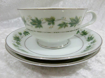 Noritake RC Yvette 591 - Cup & 2 Saucers vgc  (#1 - larger cup)  1960's pattern