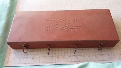 Vintage Sidchrome Socket Box.workshop,tools,rare,spanner,old,rare,garage,car,bar