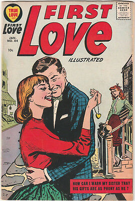 First Love Illustrated #84 VG 1957 Harvey Comics Silver-Age Romance Vol 1 True