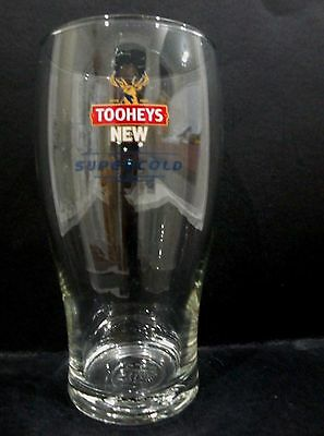Tooheys New Supercold Beer Glass 570ml / one pint vgc