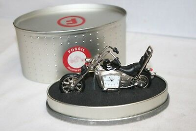 Fossil Collectors Timepiece - Chopper Motorcycle - In Original Tin