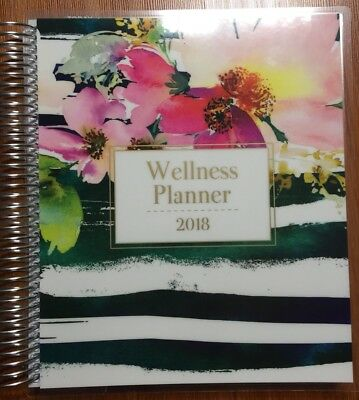 2018 Wellness Planner Weekly Diary Stickers Spiral Beautiful Design