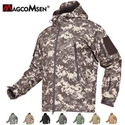 Windproof Tactical Soft Shell Mens Jacket Coats Army Military Jackets Waterproof