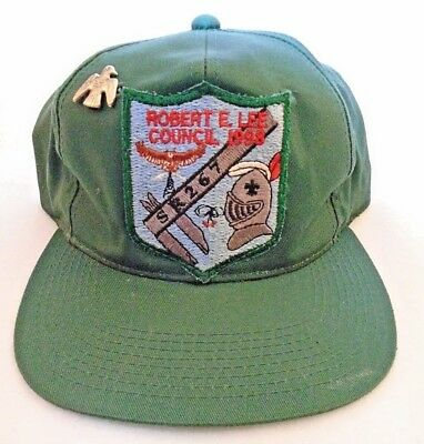 Vintage BSA Robert E Lee Council Patch Baseball Hat Cap Boy Scouts Of America