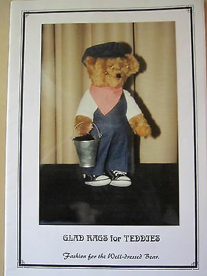 """  GLAD RAGS for TEDDY""S ""  Multi Fit Clothing Pattern for Teddy's"