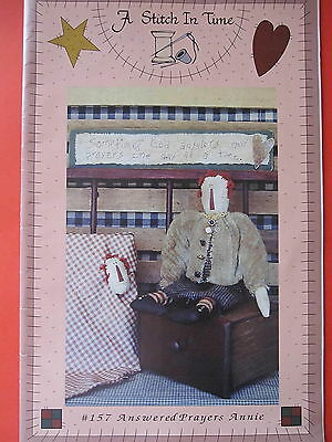 """ ANSWERED PRAYERS ANNIE "" Cloth DOLL PATTERN  by A Stitch in Time"