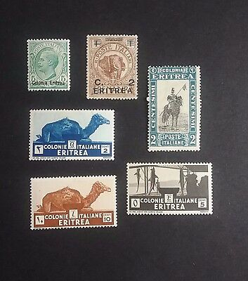 Italy Eritrea mint stamps