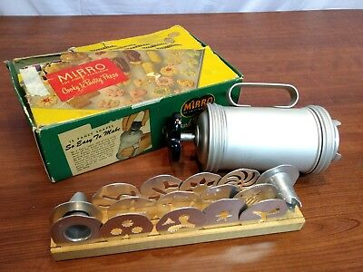 Vintage Mirro aluminum Cookie and Pastry Press with different shaped inserts