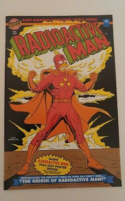 Radioactive Man (1993 1st Series) #1D glow in the dark cover / pull out poster