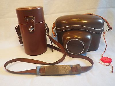 Vintage Zeiss Ikon Camera Case and Lens Case Lots of Pics LOOK!!