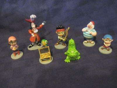 Disney Jake and the Neverland Pirates Figures Lot of 7 Cake Toppers Toys