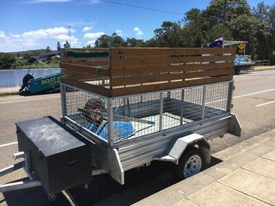 8x5 Galvanised Box Trailer Extra High Sides