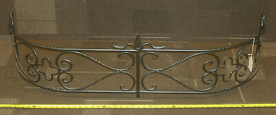 "Large Silver Scroll Fireplaces Fender 48"" L x 13 1/4"" D x 13"" Tall"