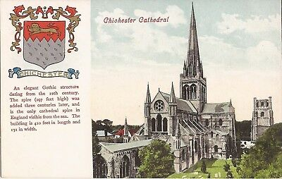 Chichester Cathedral -UK - ARCHITECTURE - coat of arms, Gilded & Silvered
