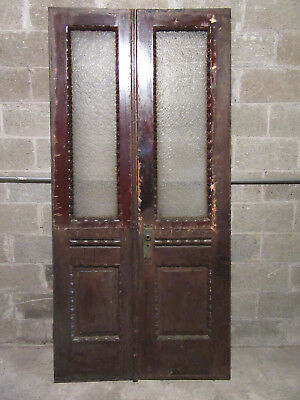 ~ ANTIQUE DOUBLE ENTRANCE FRENCH DOORS  ~ 41 x 85 ~  ARCHITECTURAL SALVAGE