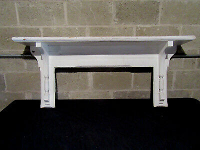 ~ Antique Oak Victorian Wall Shelf With Corbels ~ Mantle ~ Architectural Salvage