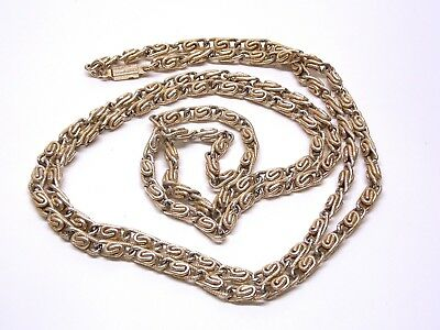 "52""~Vintage~Art Deco~West Germany~Lt Gold~Tn~Metal~Chain~Light Weight~Necklace"