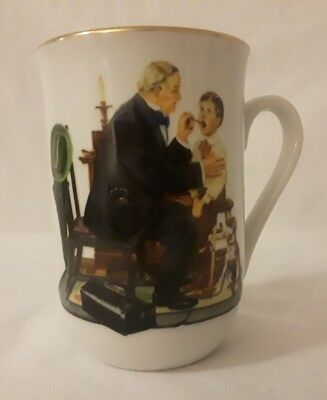 Norman Rockwell Mug The Country Doctor  Certified Authentic 1986 The Museum