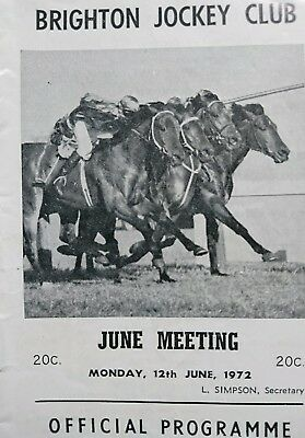 1972 Brighton Jockey Club Race Book (Brisbane Cup )