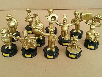 The Simpsons gold talking figurines Hungry Jacks 11 pieces 2007