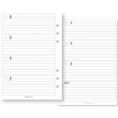Planner Essentials Double-Sided Inserts A5 72/Pkg Weekly Horizont 812247029108