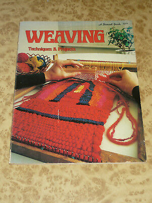 Weaving Techniques & Projects ~ Sunset Book ~ Vintage 1974 Pattern Fiber Art