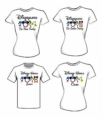 Disneyland / Disney Woeld 2018 / 2019 Iron On T Shirt Transfer