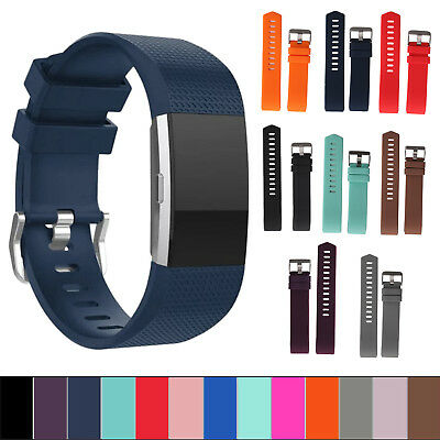Replacement Silicone Wristband Bracelet Strap Band for Fitbit CHARGE 2 Classic