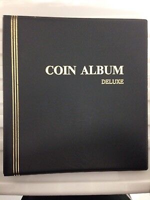 NEW Cumberland Coin Album Deluxe with six Various Coin pages RRP $49.95