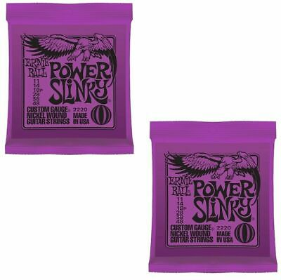 2 sets Ernie Ball 2220 Power  Slinky Electric Guitar Strings 9 - 46 PO2220