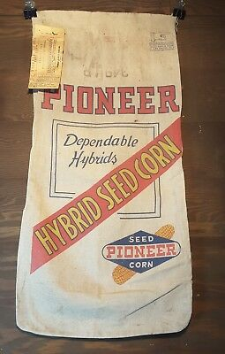 PIONEER Hybrids Seed Corn Cloth Sack Variety 349LR  109-112 day Double Cross