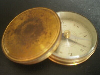 Vintage French made brass cased compass scientific instrument