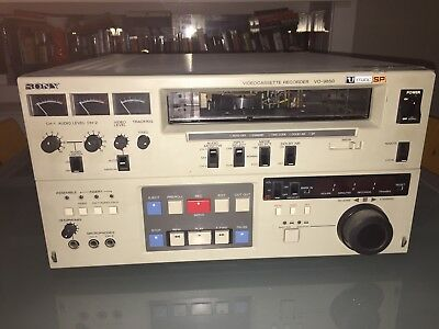 """Sony VO9850 3/4"""" UMatic SP Video Recorder w/BKU-705 tc card in Good Condition"""